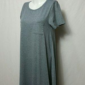 LuLaRoe Dresses - LuLaRoe Women X-SMAll Gray Short Sleeve  Dress